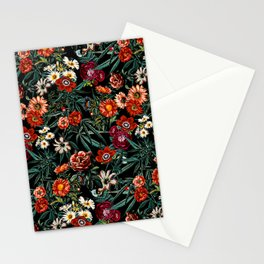 Marijuana and Floral Pattern Stationery Cards