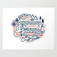 tennessee Art Prints featuring Tennessee by Matt Lehman