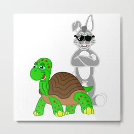 Tortoise and the Hare! Metal Print