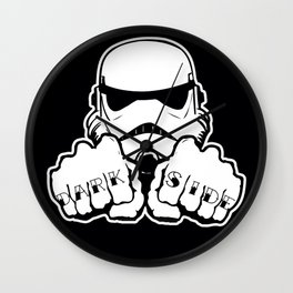 Dark Side Knuckle Wall Clock
