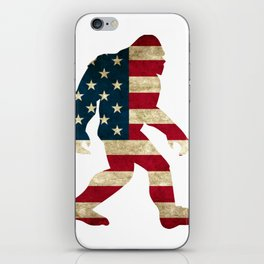 Bigfoot american flag iPhone Skin