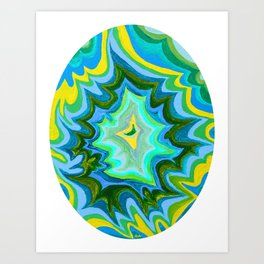 Energy Oval 2 Art Print
