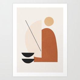 Abstract Minimal Shapes Art Print