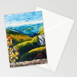 Landscape painting - Autumn dreams - by LiliFlore Stationery Cards