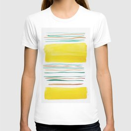 13  |181026 Lines & Color Block | Watercolor Abstract | Modern Watercolor Art T-shirt