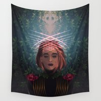 scorpio Wall Tapestries featuring SCORPIO by talon wolf