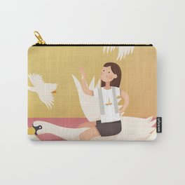 Fly Girl And White Swan Carry-All Pouch