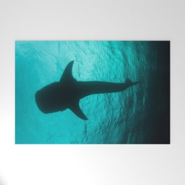 Whale shark silhouette Welcome Mat