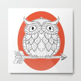 Let the Wisdom guide you Metal Print