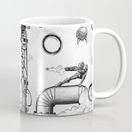 Mother Brain Super Metroid Engraving Scene Coffee Mug