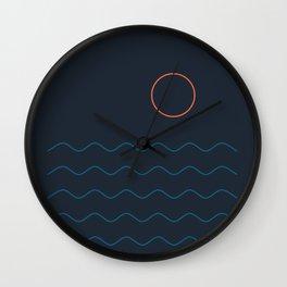 La Mer (Nuit) Seascape Wall Clock