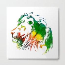 Jamacian Lion Metal Print