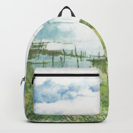Summer by a lake Backpack