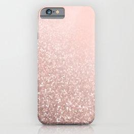 Rose Gold Sparkles on Pretty Blush Pink VI iPhone Case