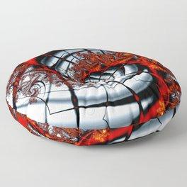 Fractal Art - Burning Web Floor Pillow