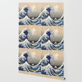 seascape painting japanese ukiyo e art the great wave off kanagawa Wallpaper