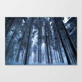 Snowy Winter Trees - Forest Nature Photography Canvas Print
