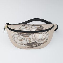 Snake and Peonies Fanny Pack