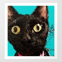 Kismet Kitty Art Print