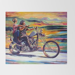 on the way Throw Blanket