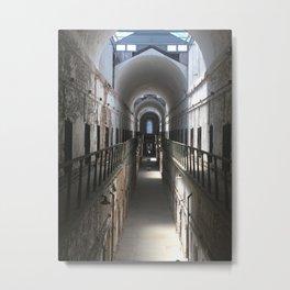 Eastern State Penitentiary hallway Metal Print