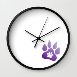 Dog paw 2018 New Year Wall Clock