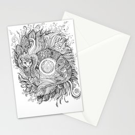 Cat dragon Stationery Cards