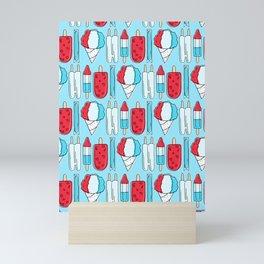 Patriotic Popsicles (Blue) Mini Art Print