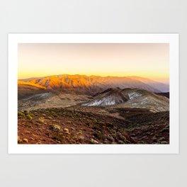 Death Valley - Dante's View, Rear View Art Print