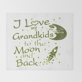 I Love My GrandKids to the Moon and Back Throw Blanket