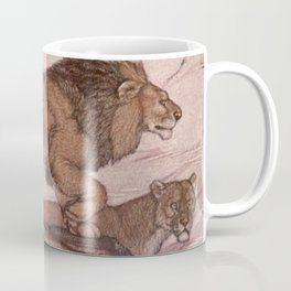 Vintage Lion Painting (1909) Coffee Mug