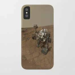NASA Curiosity Rover's Self Portrait at 'John Klein' Drilling Site in HD iPhone Case