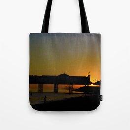 September Sunset at Brighton Pier Tote Bag