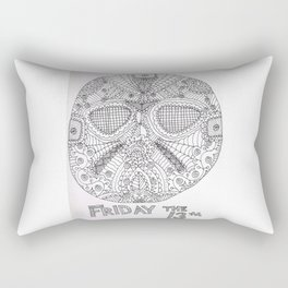 Hockey Mask Doodle Rectangular Pillow