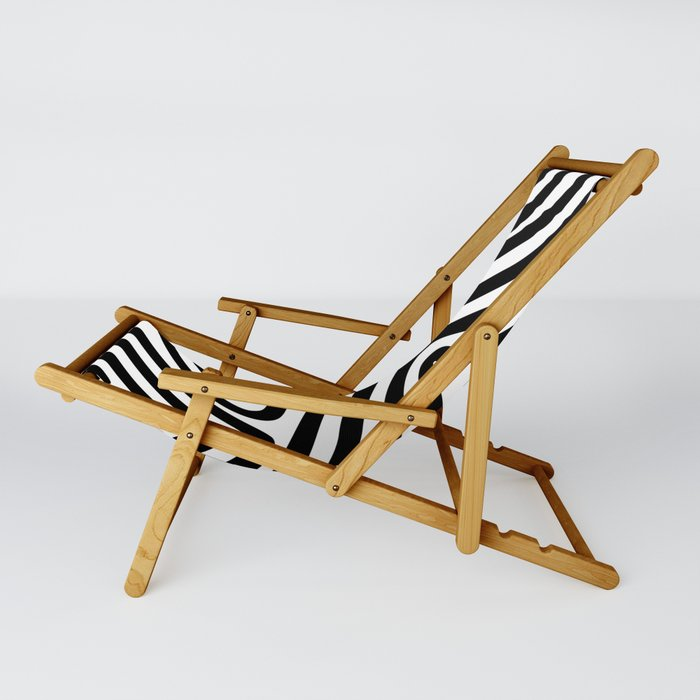 stripes black 01 Sling Chair