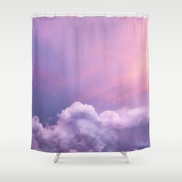 Sunset and Clouds | Blush Pink | Unicorn | Sky Shower Curtain