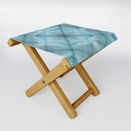 Sultan Silks Blue Sapphire I Folding Stool
