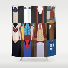 The Doctors - Doctor Who & TARDIS Shower Curtain