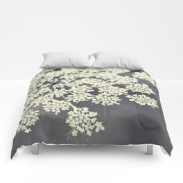 Black and White Queen Annes Lace Comforters