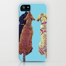 Three Amigos I in aqua iPhone Case