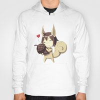 squirrel Hoodies featuring Squirrel by Freeminds