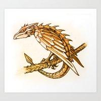Clockwork Dragonette Art Print