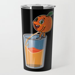 Freshly Squeezed Orange Juice Travel Mug