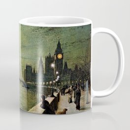 Reflections on the Thames River, London by John Atkinson Grimshaw Coffee Mug