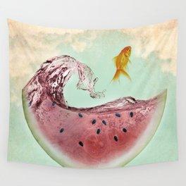 watermelon goldfish 02 Wall Tapestry