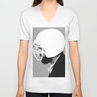 stanley kubrick V-neck T-shirts featuring Stanley Kubrick by MORPHEUS