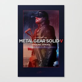 "Metal Gear Solid Ground Zeroes ""Infiltrate"" Poster Canvas Print"