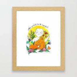 The Buddhist Monk Framed Art Print