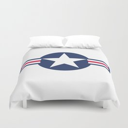 US Airforce style roundel star - High Quality image Duvet Cover