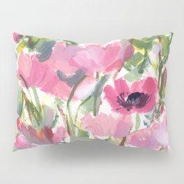 Pink Poppy Graphic Pillow Sham